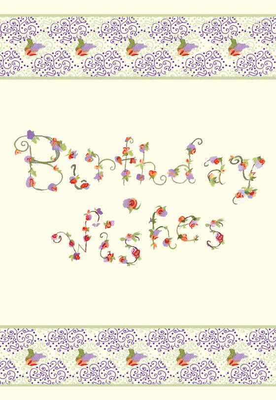 Birthday Wishes Floral Gift Enclosure - Gift Enclosure - Dreams After All