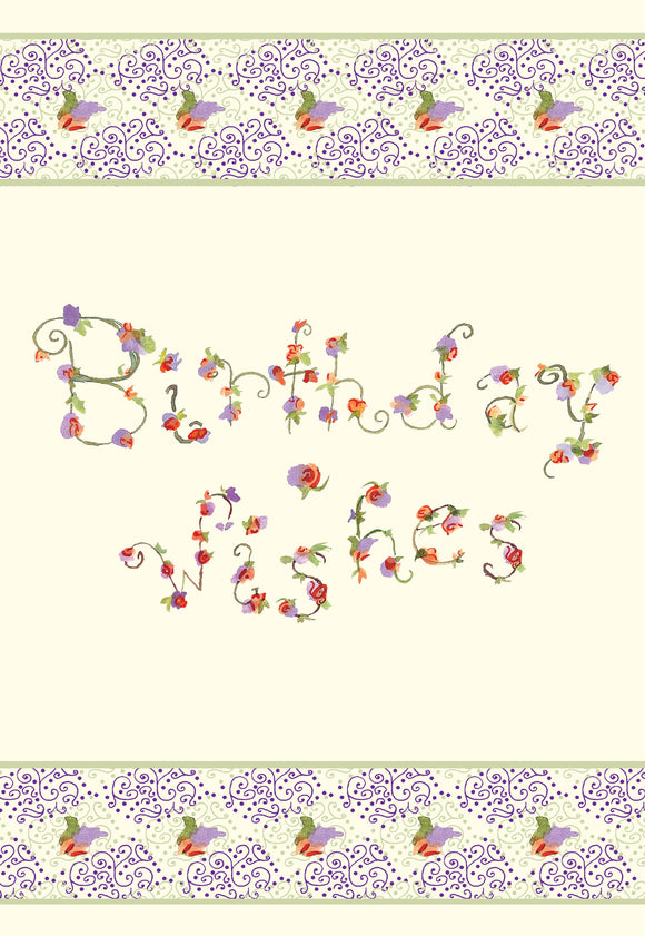 Birthday Wishes Floral Gift Enclosure - Dreams After All