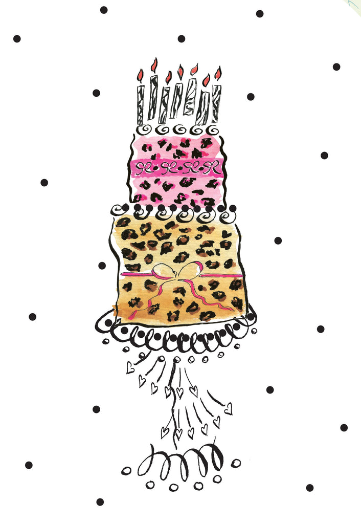 Leopard Cake Gift Emclosure - Dreams After All