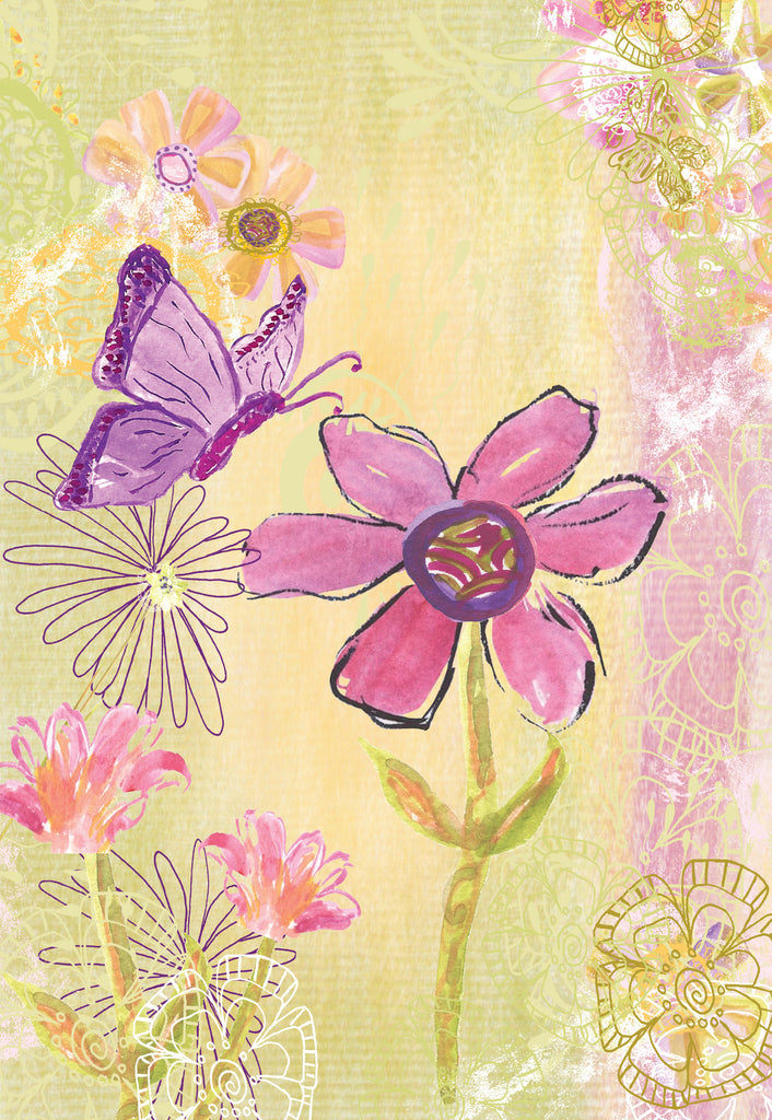 Olive Butterfly Gift Enclosure Card