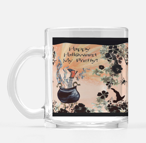 Halloween Witch's Brew Glass Mug 10 oz. - Dreams After All