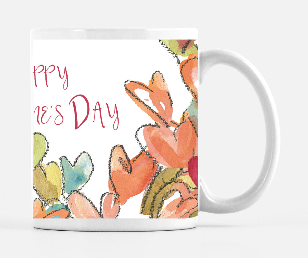 Happy Valentine's Day Chalk Heart 15 ounce Mug - Dreams After All