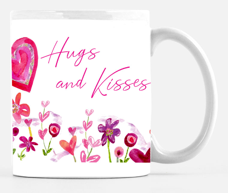 Hugs and Kisses Mug - Mugs - Dreams After All
