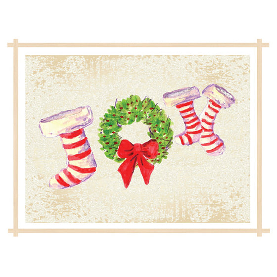 1 CARD OR 10 CARDS - Joy Stockings Holiday Card - Dreams After All