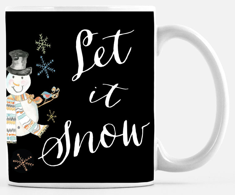 Let It Snow Snowman Mug - Mugs - Dreams After All
