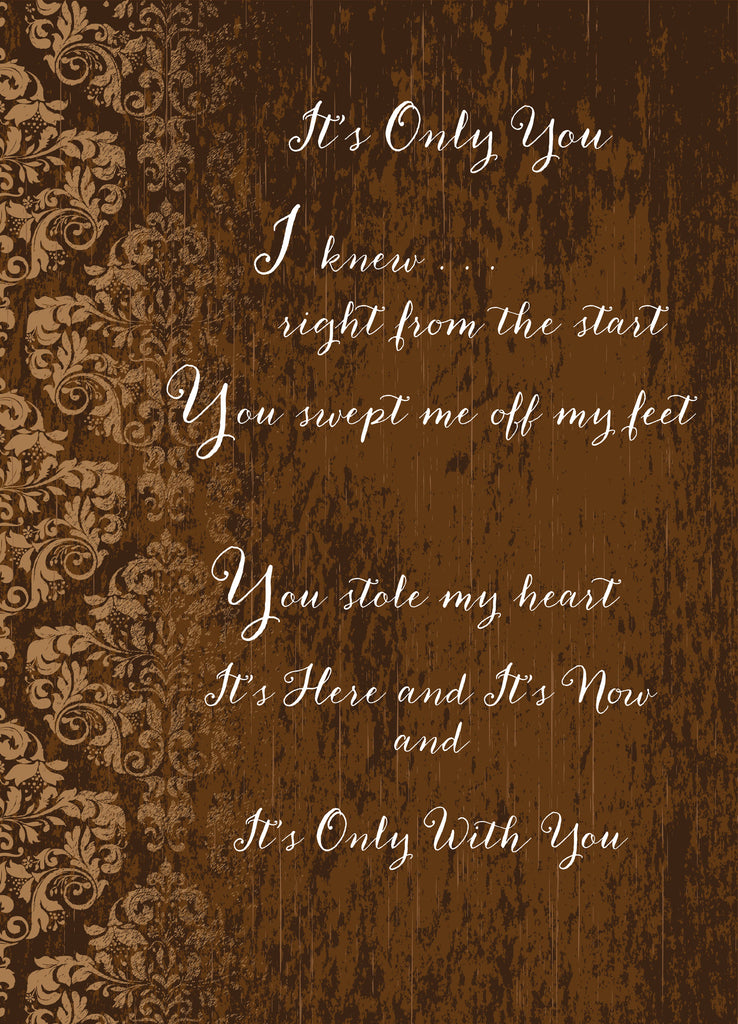 It's Only You Greeting Card (Love and Romance)
