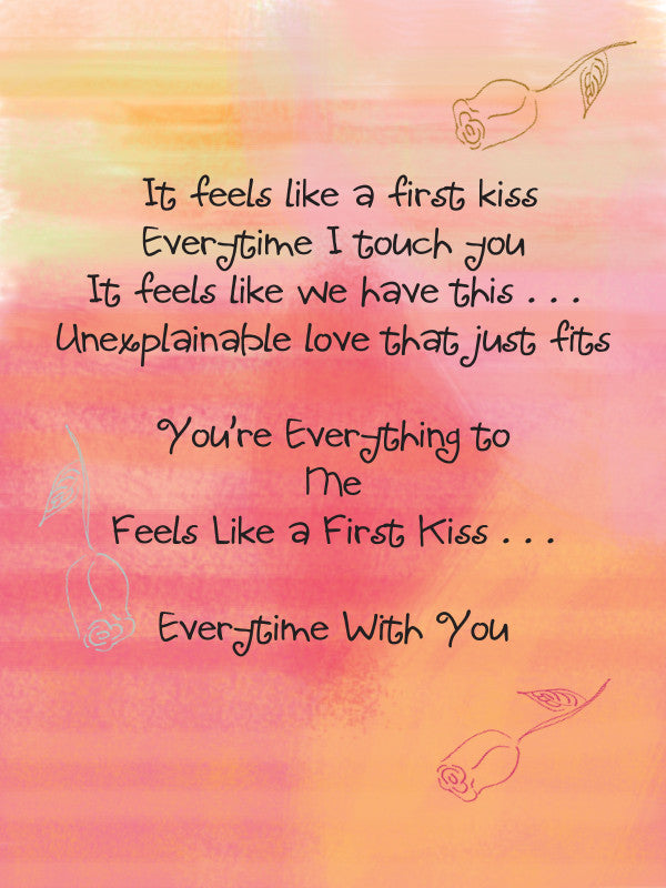 First Kiss (Valentine's Day & Love and Romance) Card - Greeting Card - Dreams After All