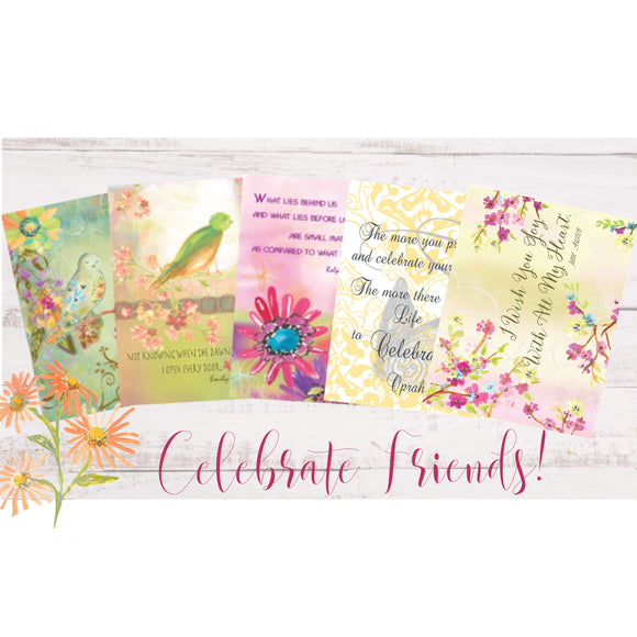 Inspiration Package of Five Metallic Greeting Cards - Dreams After All