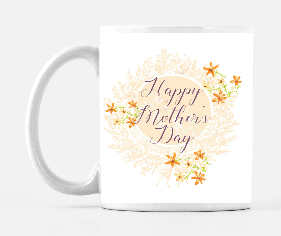 Happy Mother's Day Yellow Floral Mug - Dreams After All
