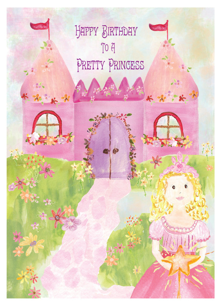 Happy Birthday Pretty Princess Greeting Card