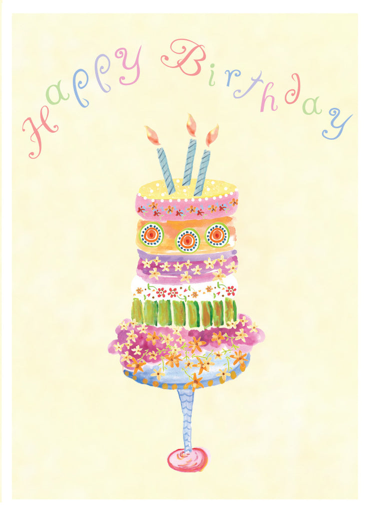 Daisy Cake Birthday Card - Greeting Card - Dreams After All