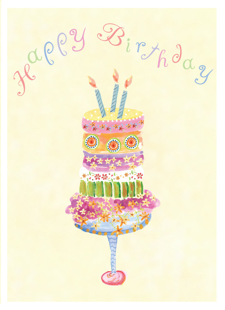 Daisy Cake Birthday Card