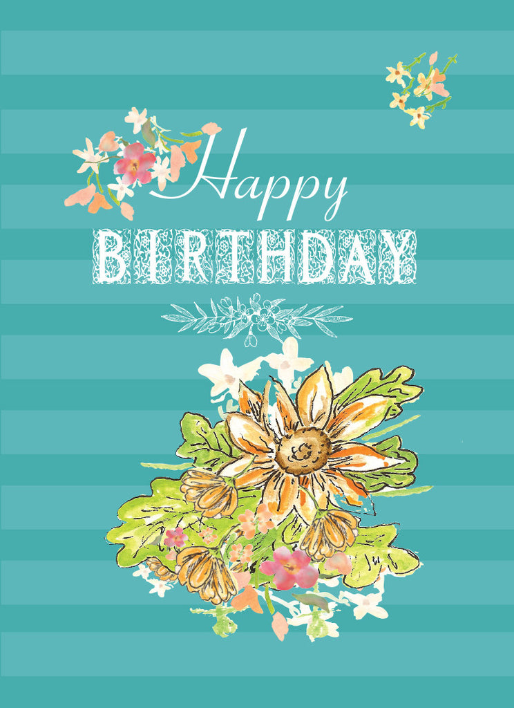Sunflower Happy Birthday Card - Greeting Card - Dreams After All