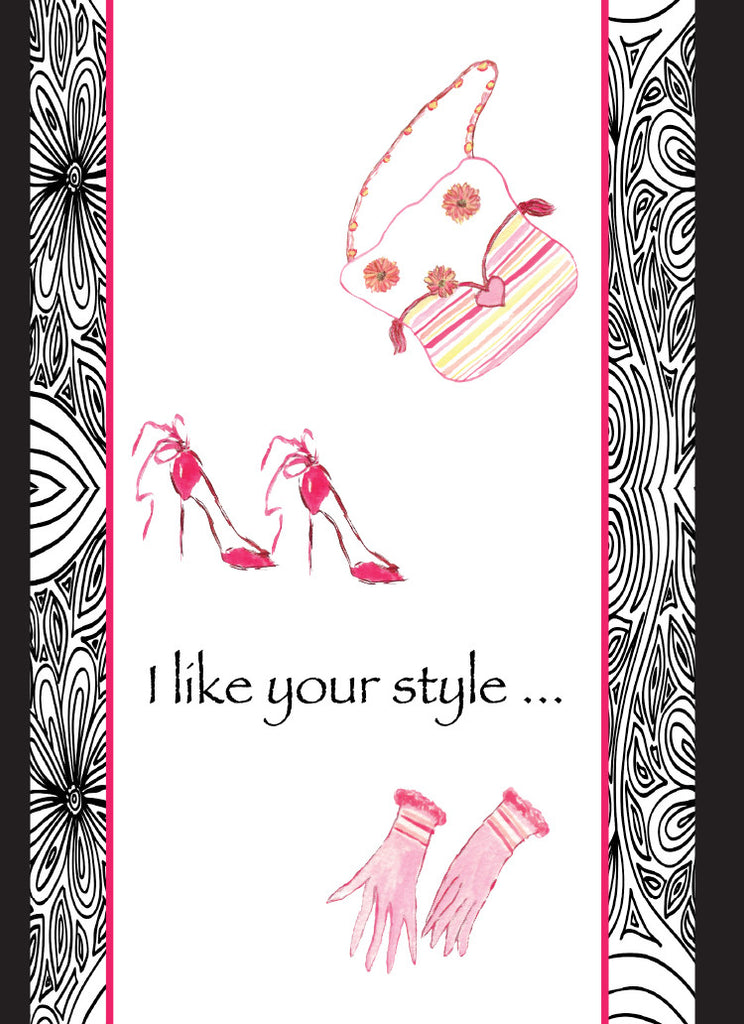 Gloves and Purses Birthday Card - Greeting Card - Dreams After All