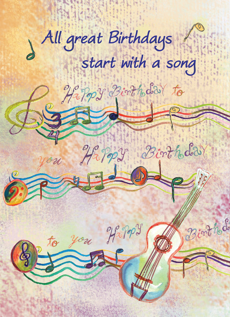 Happy Birthday Song Greeting Card - Greeting Card - Dreams After All