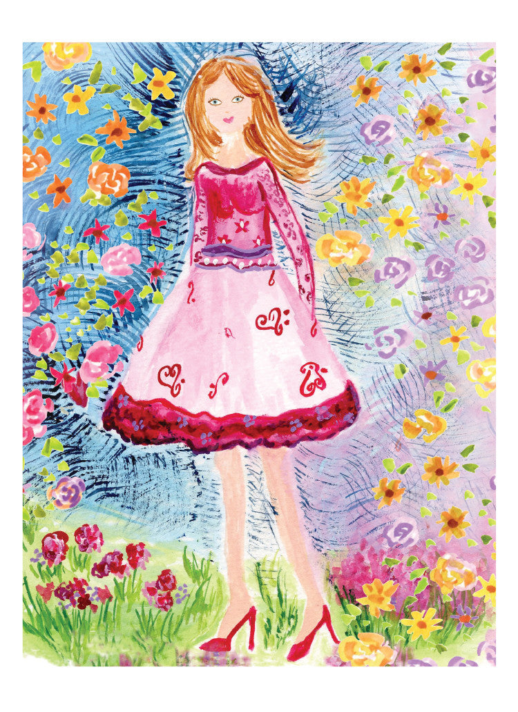 happy birthday little girl greeting card dreams after all