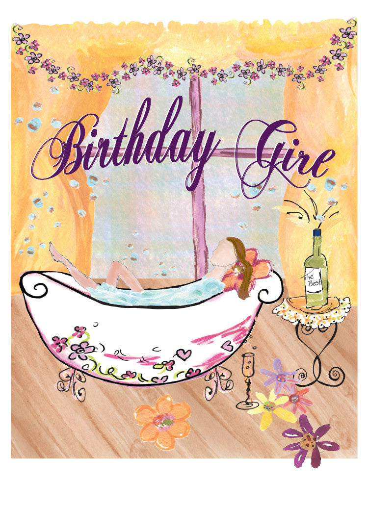 Bathtub Birthday Girl