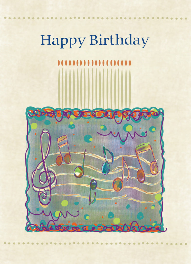 Treble Clef Happy Birthday Card