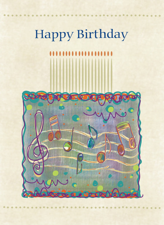 Treble Clef Happy Birthday Card - Greeting Card - Dreams After All