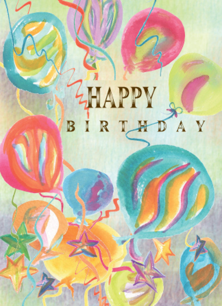 Happy Birthday Balloons Card - Greeting Card - Dreams After All