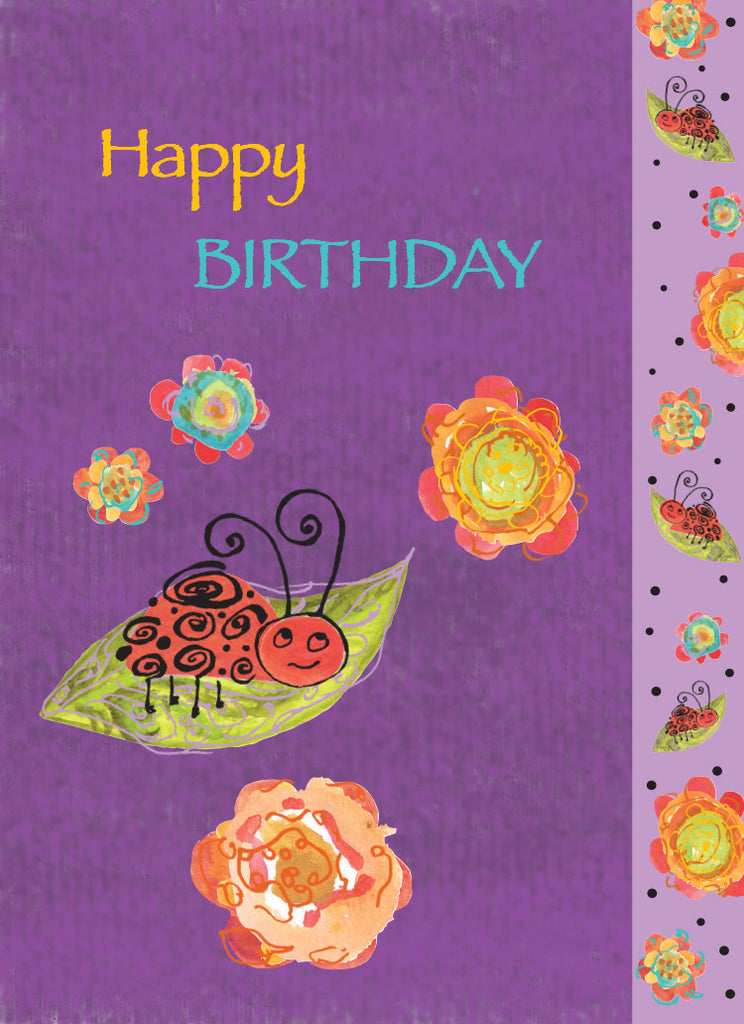 Lady Bug Happy Birthday Card