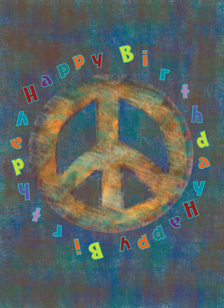 Brown Peace Birthday Card - Greeting Card - Dreams After All