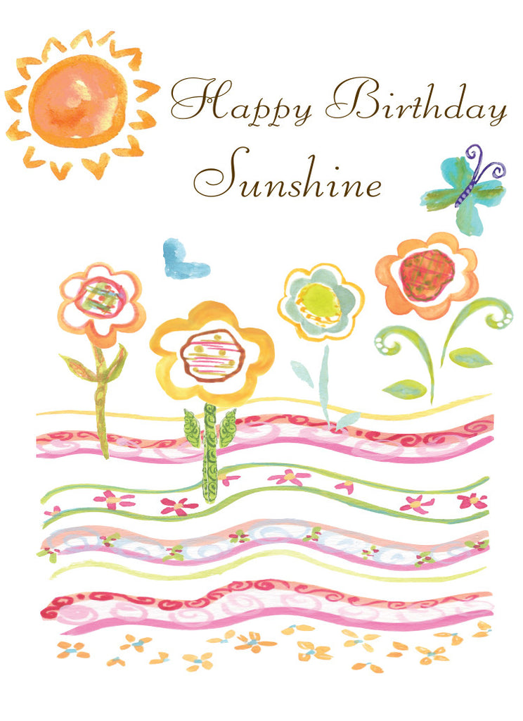 Happy Birthday Sunshine Greeting Card