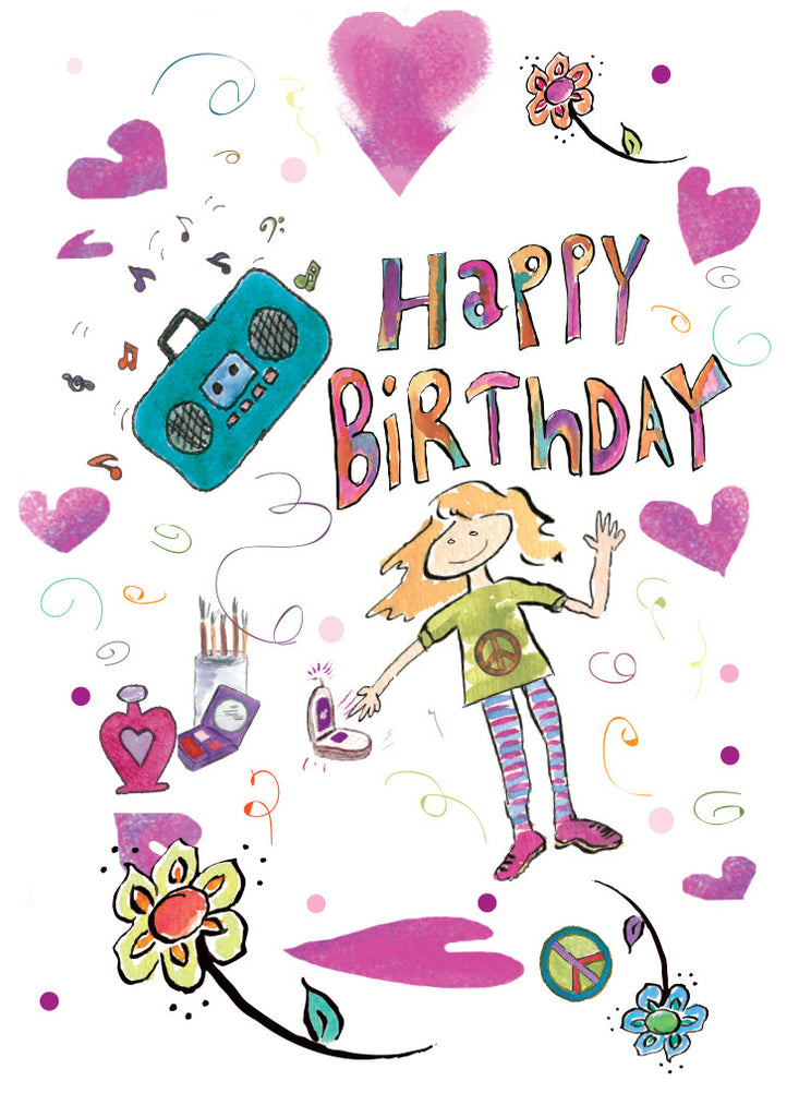 Happy Birthday Teen Greeting Card