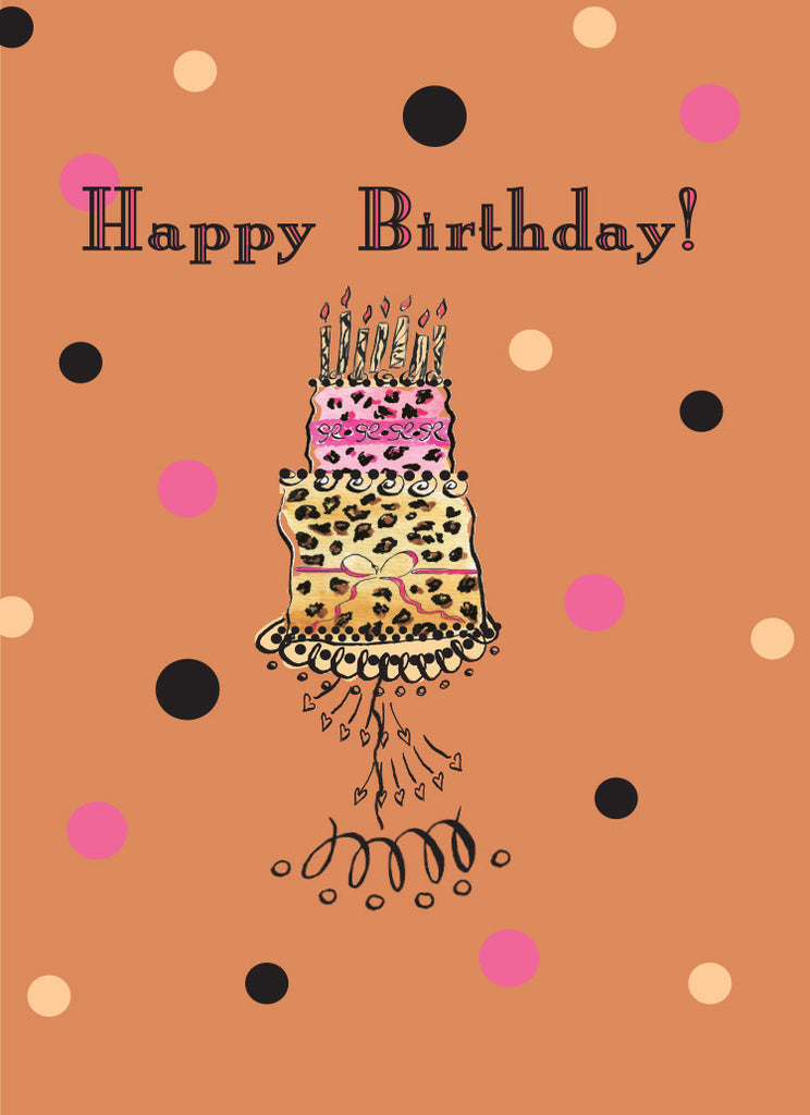 Leopard Cake Birthday Card - Dreams After All