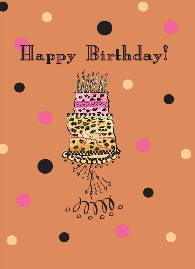 Leopard Cake Birthday Card