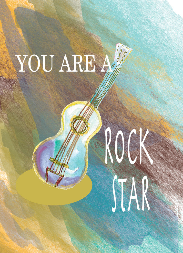 Rock Star Happy Birthday Card - Greeting Card - Dreams After All