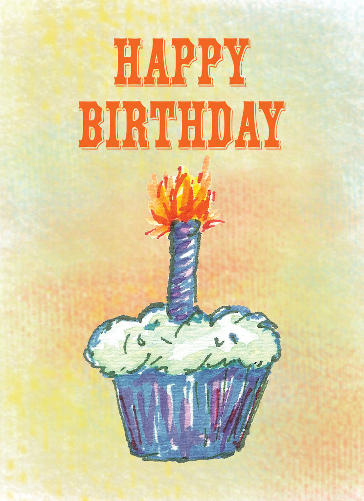 Funky Cupcake Birthday Card - Dreams After All