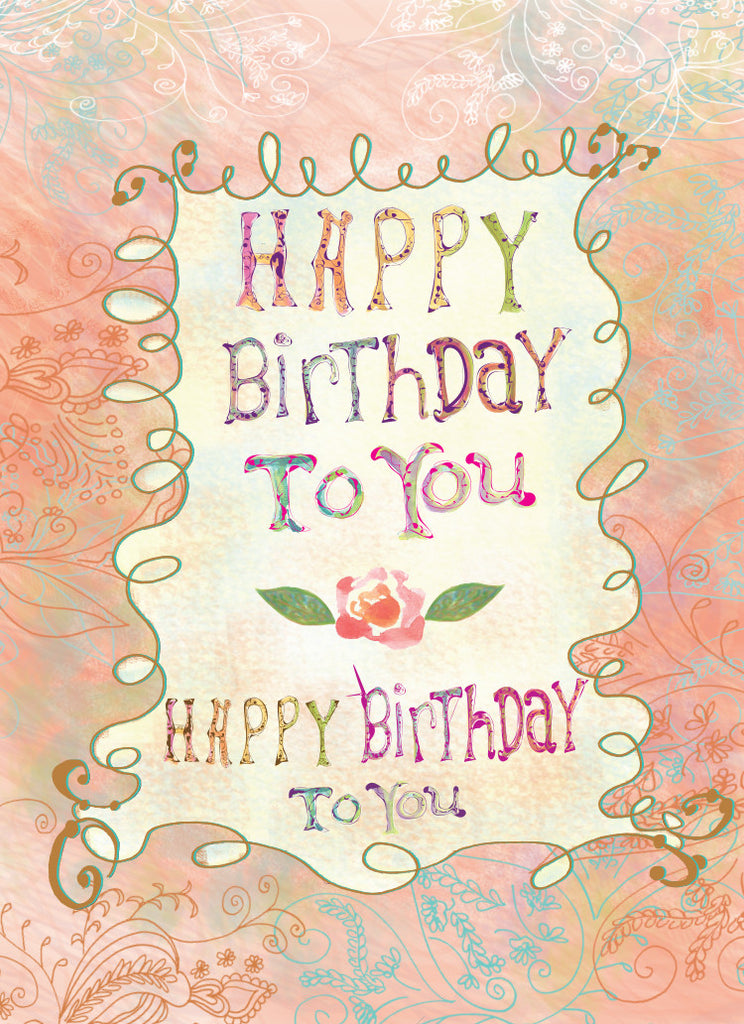 Happy Birthday Dear Greeting Card - Greeting Card - Dreams After All