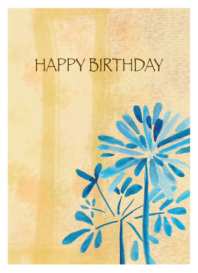Blue Whisp Birthday Card
