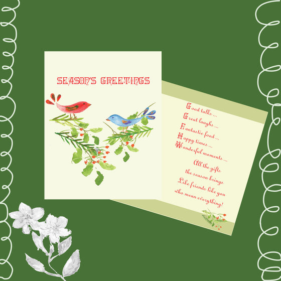 6 CARDS - Season's Greetings Holiday Cards - Dreams After All