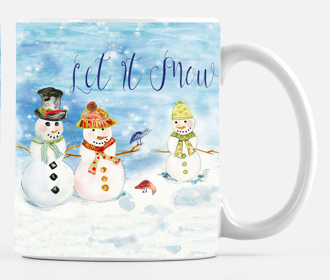 Snowman Family Let It Snow Mug