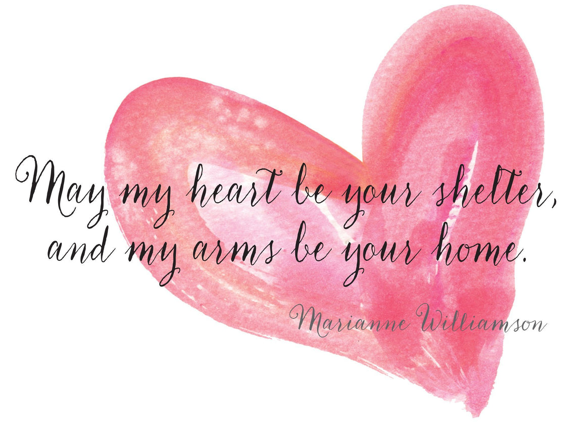May My Heart Be Your Shelter Blank Card - Greeting Card - Dreams After All