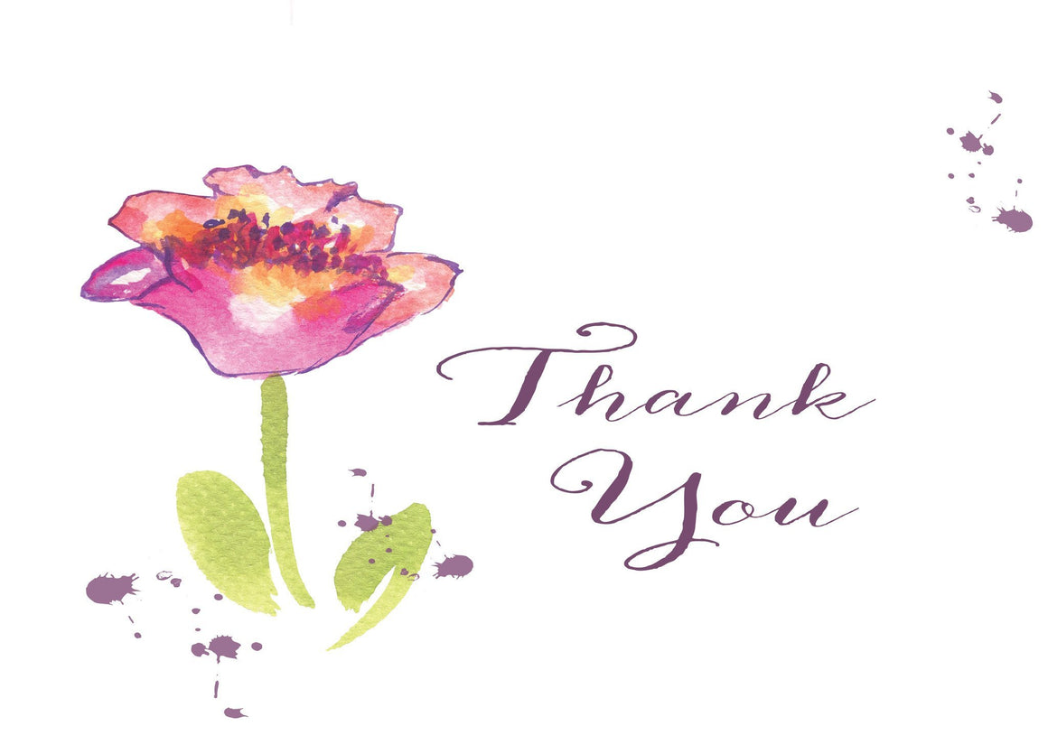Thank You Dark Pink Tulip Blank Card - Greeting Card - Dreams After All