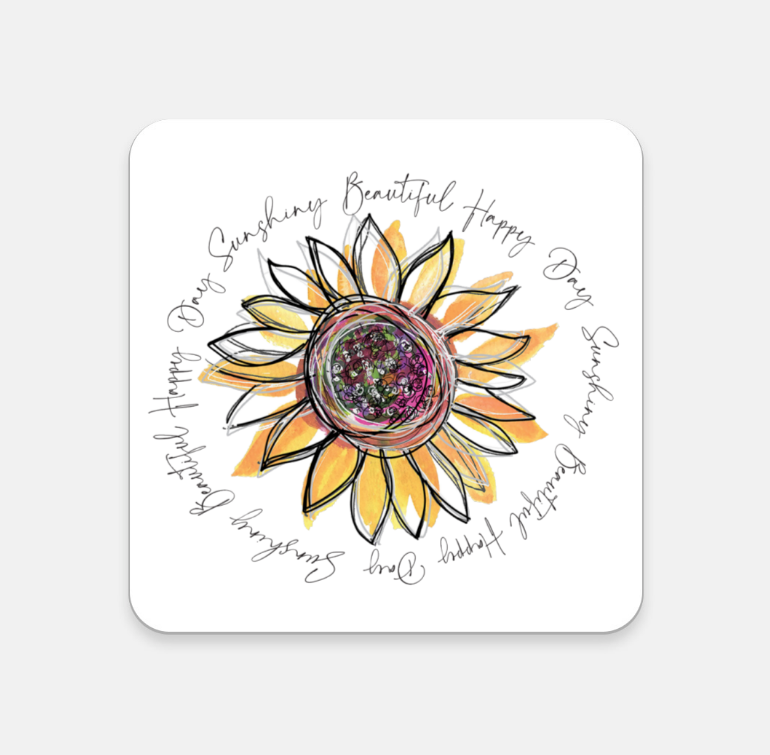 Coaster - Happy Beautiful Day Sunflower - Dreams After All