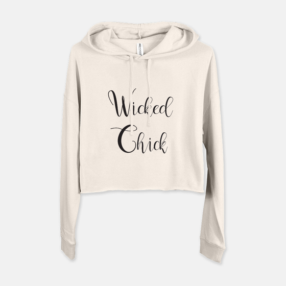 SWEATSHIRT - WICKED CHICK CROPPED WITH HOOD - BONE - Dreams After All