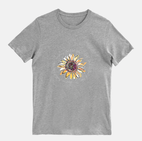 Sunflower Happy Day Athletic Heather Short Sleeved T-Shirt (Unisex) - Dreams After All
