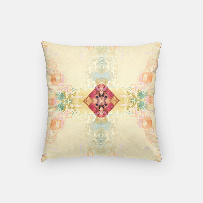 Peacock Patterned Square Throw Pillow - Dreams After All