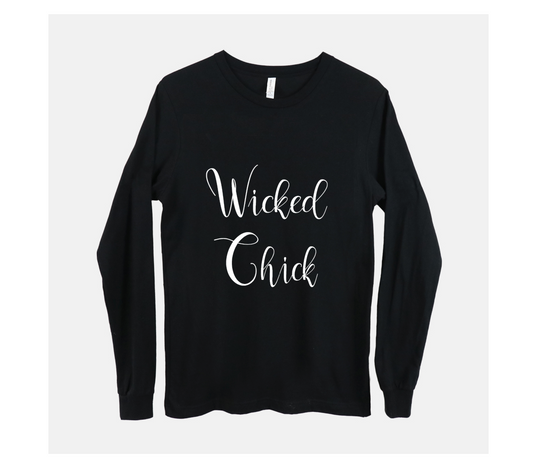 Wicked Chick Long Sleeved Black T-Shirt
