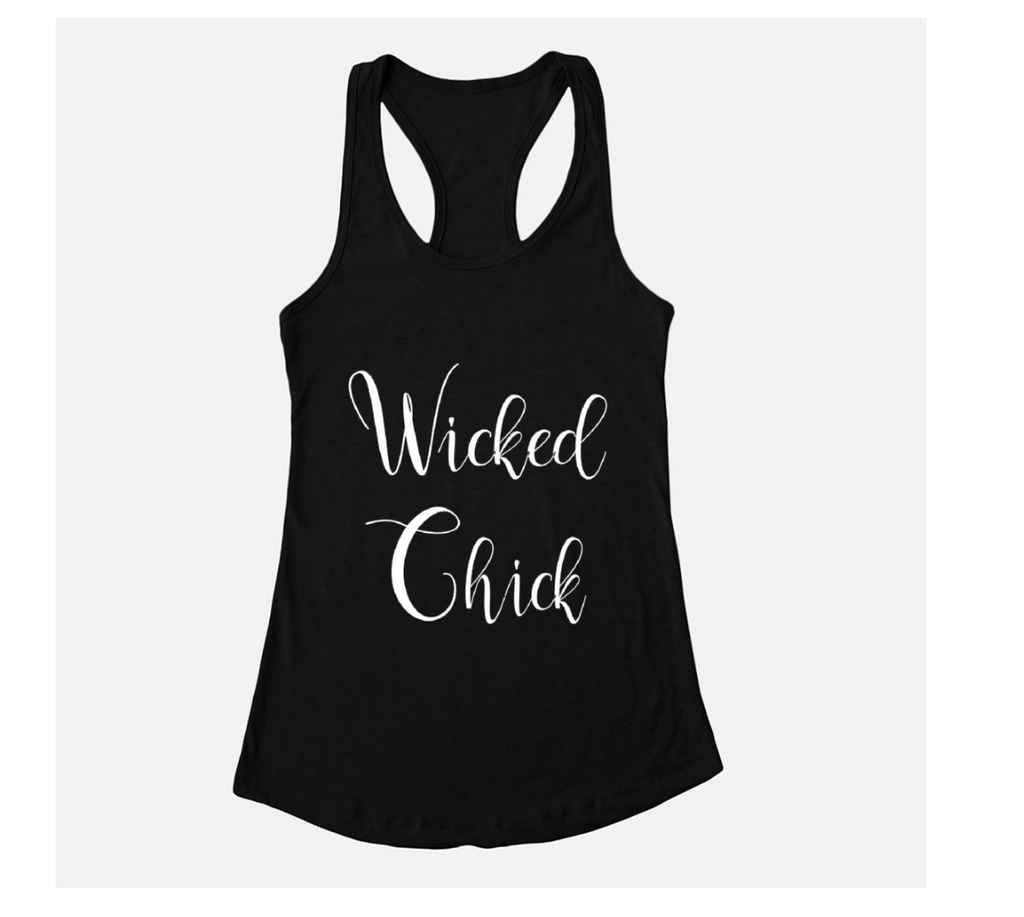 Wicked Chick Black Racerback Tank