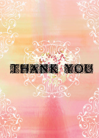 Thank You Frilly Greeting Card - Greeting Card - Dreams After All