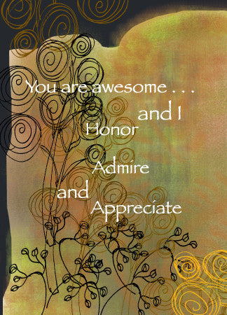 Thank You Appreciate Greeting Card - Greeting Card - Dreams After All