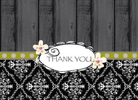 Thank You Wood Greeting Card