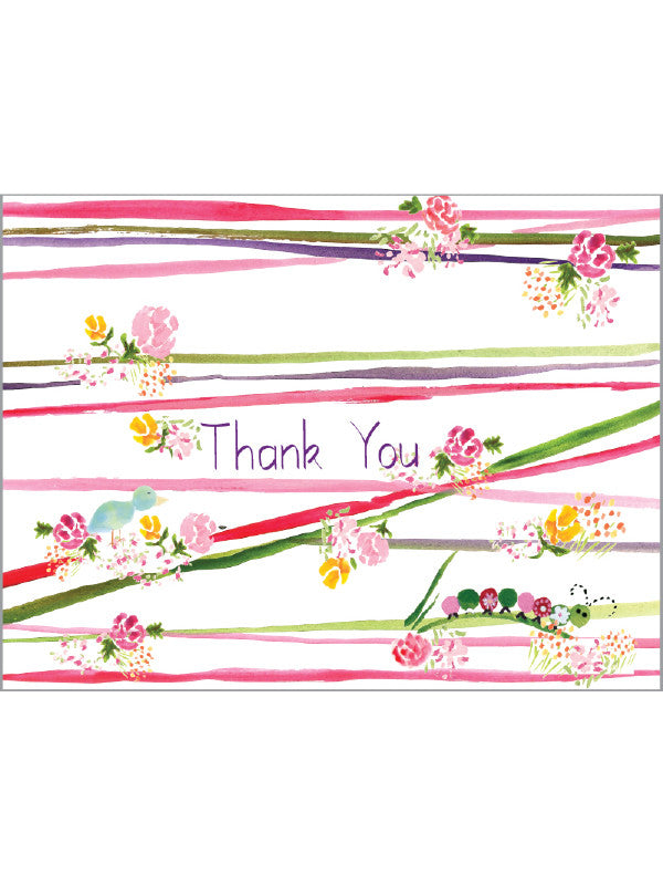 Thank You Caterpillar Greeting Card