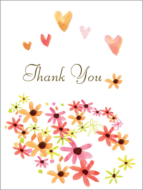 Thank You Daisy Hill Greeting Card - Greeting Card - Dreams After All