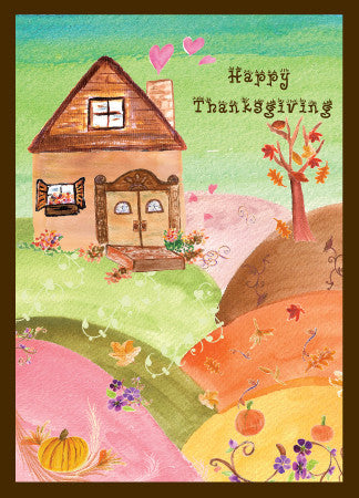 Happy Thanksgiving Grateful House Greeting Card - Greeting Card - Dreams After All